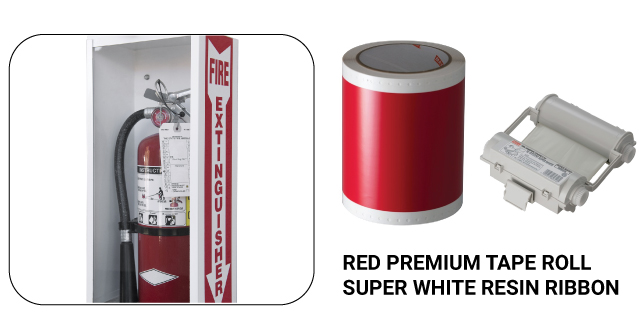 Red Premium Tape Roll Super White Resin Ribbon