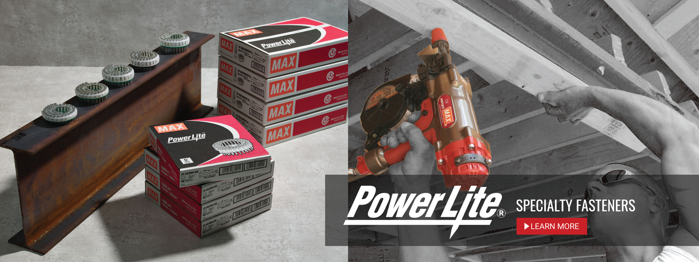 PowerLite Specialty Fasteners for concrete and steel applications