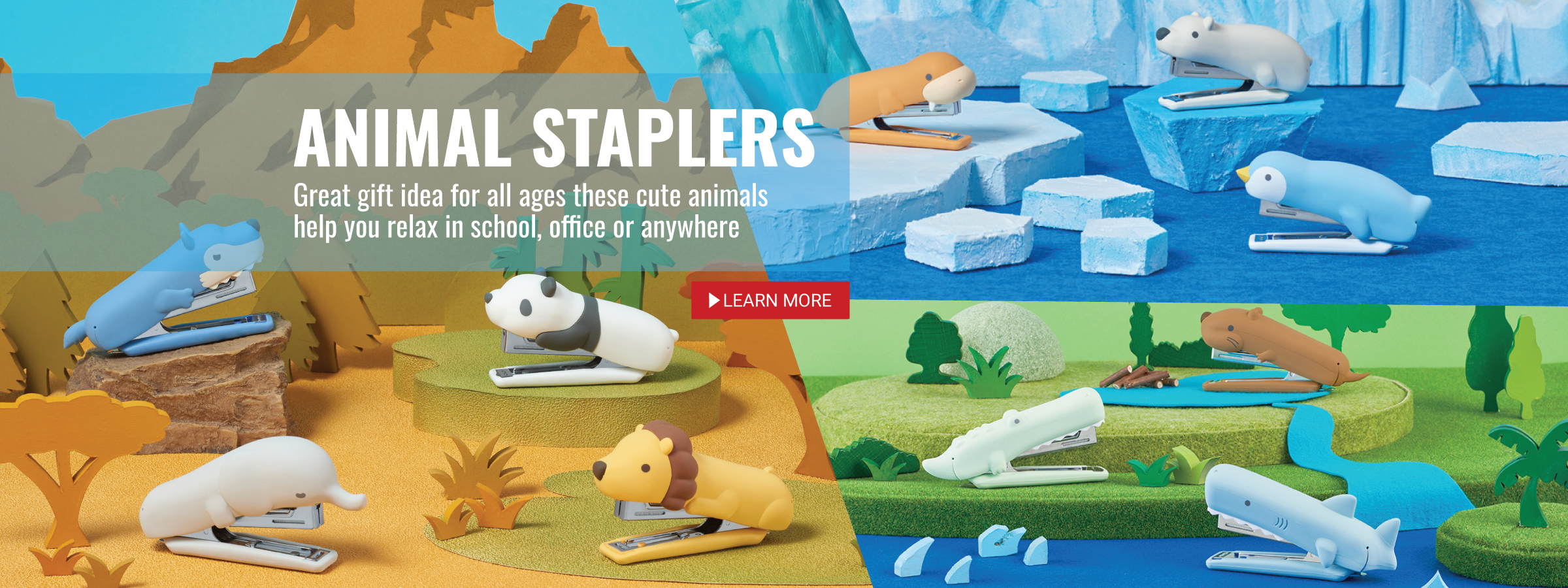 Cute Animal Silicone Staplers