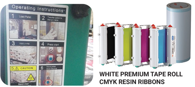 White Premium Tape Roll CMYK Resin Ribbons