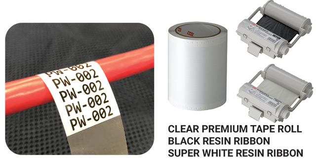 Clear Premium Tape Roll Black Resin Ribbon Super White Resin Ribbon